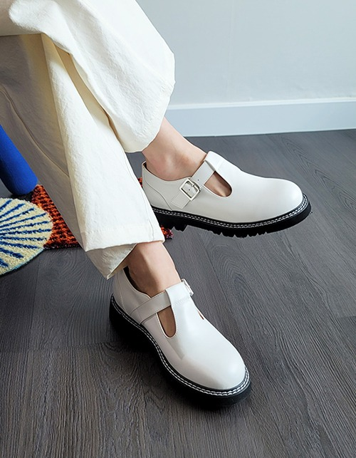 2 line stitched T loafer (2 colors)