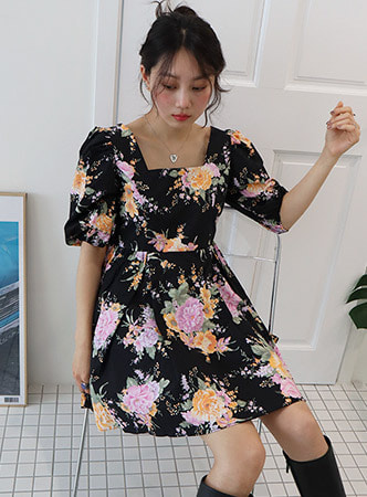 floral mini dress (3 colors)